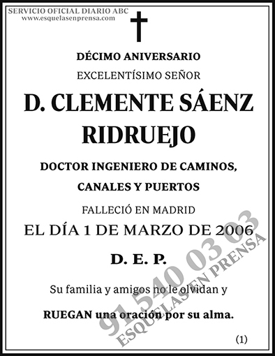 Clemente Sáenz Ridruejo